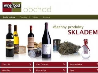 winemarket - e-shop - úvodní stránka