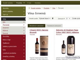 winemarket - e-shop - výpis produktů