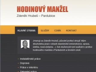 hodinový manžel Pardubice - úvodní stránka